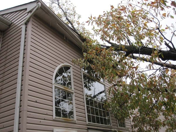 Hurricane Sandy damaged home and business windows in NJ