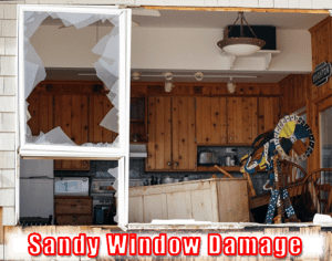 Sandy window damage