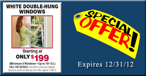 Double hung replacement window sale!