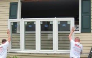 Bow Window Installation in Progress - Morristown NJ